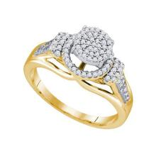 10KT Yellow Gold 0.33CTW DIAMOND MICRO PAVE RING #50956v2