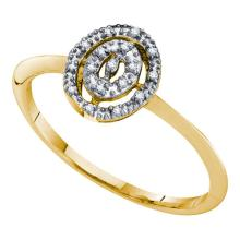 10KT Yellow Gold 0.03CTW DIAMOND FASHION RING #57791v2