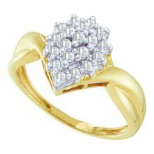 10K Yellow-gold 0.25CTW DIAMOND LADIES CLUSTER RING #52633v2