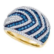 10K Yellow-gold 1.75CTW BLUE DIAMOND FASHION BAND #59473v2