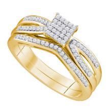 10KT Yellow Gold 0.25CTW DIAMOND MICRO PAVE BRIDAL SET #50958v2