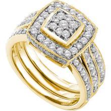 14K Yellow-gold 1.00CT DIAMOND FASHION BRIDAL SET #57252v2