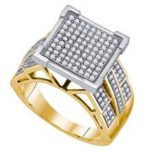10K Yellow-gold 0.50CT DIAMOND MICRO PAVE RING #67446v2