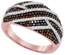 10KT Rose Gold 0.60CTW DIAMOND MICRO-PAVE RING #62336v2