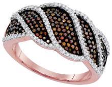 10KT Rose Gold 0.75CTW DIAMOND MICRO-PAVE RING #62329v2