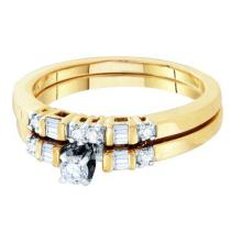 10K Yellow-gold 0.30CTW DIAMOND BRIDAL SET #64773v2