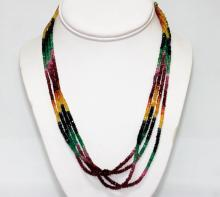 110.40 CTW Native American 3-strand Natural Muti Shapph #49199v1