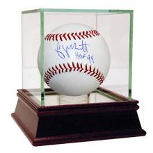 GEORGE BRETT KANSAS CITY ROYALS AUTOGRAPHED MLB BASEBALL INSCRIBED