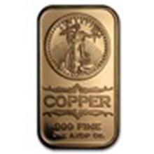 1 oz Copper Bar - Saint-Gaudens #33688v2