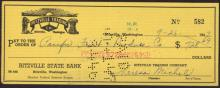 Ritzville Trading Company 1940s Check with Indian Logo #35816v2