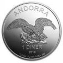 Andorra 1 Diner 1 oz. Silver Eagle 2013 #27517v2