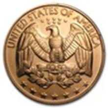 1 oz Copper Round - U.S. Quarter #33686v2