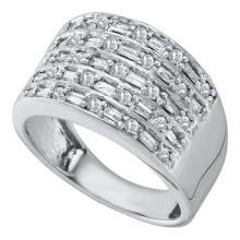 10KT White Gold 0.5CT DIAMOND FASHION BAND #60707v2