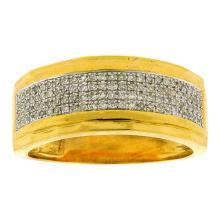 925 Sterling Silver Yellow 0.35CTW DIAMOND FASHION BAND #68919v2