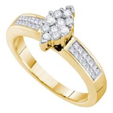 14KT Yellow Gold 0.50CTW DIAMOND INVISIBLE RING #55386v2