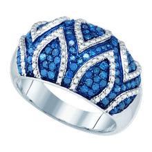 10KT White Gold 0.85CTW BLUE DIAMOND FASHION BAND #54598v2