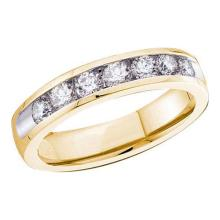14KT Yellow Gold 0.25CTW ROUND DIAMOND MACHINE SET BAND #50460v2