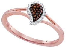 10KT Rose Gold 0.10CTW DIAMOND MICRO-PAVE RING #62348v2