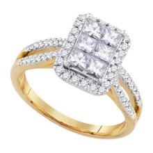 14K Yellow-gold 1.01CTW DIAMOND INVISIBLE BRIDAL RING #59814v2