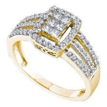 14KT Yellow Gold 0.50CTW DIAMOND LADIES INVISIBLE RING #68612v2