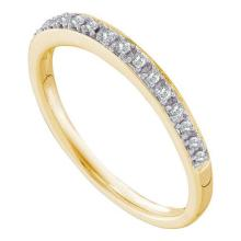 14KT Yellow Gold 0.12CT DIAMOND FASHION BAND #68515v2