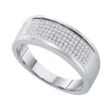 925 Sterling Silver White 0.30CT DIAMOND MICRO-PAVE BAND #50394v2