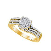 10K Yellow-gold 0.33CT DIAMOND LADIES MICRO PAVE RING #67481v2