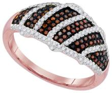 10KT Rose Gold 0.40CTW DIAMOND MICRO-PAVE RING #62347v2
