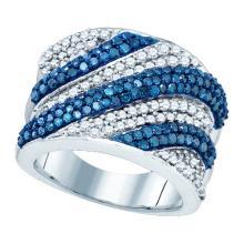 10KT White Gold 2.05CTW BLUE DIAMOND FASHION BAND #59447v2