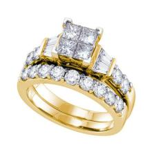 14KT Yellow Gold 1.00CTW DIAMOND INVISIBLE BRIDAL SET #58742v2