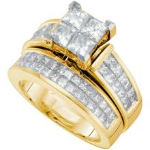 14KT Yellow Gold 3.00CTW DIAMOND INVISIBLE BRIDAL SET #57471v2