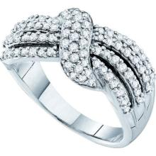 14K White-gold 0.78CTW DIAMOND FASHION BAND #55490v2