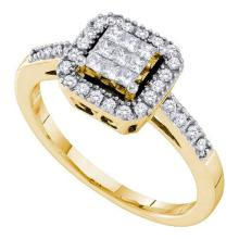 14K Yellow-gold 0.33CTW DIAMOND INVISIBLE RING #53607v2