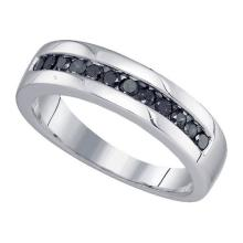 925 Sterling Silver White 0.50CT DIAMOND FASHION BAND #59172v2