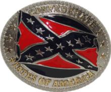 CONFEDERATE FLAG BELT BUCKLE #35865v2