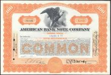 Stock Certificate from the American Bank Note Company #35442v2