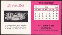 W. L. Stone & Co. 1958 Ink Blotter Advertising Sterling Silver Reed & Barton Set #35847v2