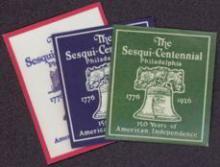 Set of 3 different 1926 Philadelphia Sesqui-Centennial Stamps #34726v2
