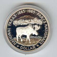 Canada 1985 silver dollar National Parks #76268v1