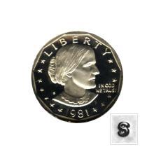 Susan B Anthony Dollar 1981-S Proof #76177v1