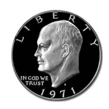 Eisenhower Dollar 1971-S Silver Proof #76135v1