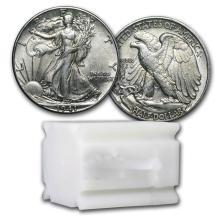 $10 Walking Liberty Half-Dollars - 90% Silver 20-Coin R #78324v1