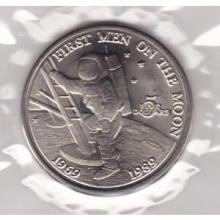 1989 $5 Marshall Islands 20th Anniversary Moon Landing #76280v1