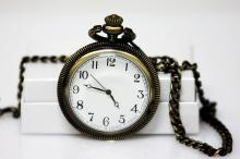 COLLECTIBLE OLD FASHIONED QUARTZ POCKET WATCH  #56396v1