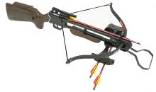 150LBS PRE STRUNG WOODEN HUNTING CROSSBOW W/QUIVER #39689v2