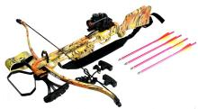 160LBS WOODLAND CAMOUFLAGE HUNTING CROSSBOW COMES W/RED #39693v2