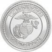 US Marines .999 Silver 1 oz Round #27443v2