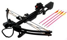 175LBS ALL BLACK COMPOUND HUNTING CROSSBOW COMES W/RED  #39695v2