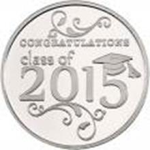 Congratulations Class Of 2015 .999 Silver 1 oz Round #27439v2