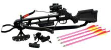 160LBS HUNTING CROSSBOW COMES W/RED DOT SIGHT, QUIVER,  #39691v2